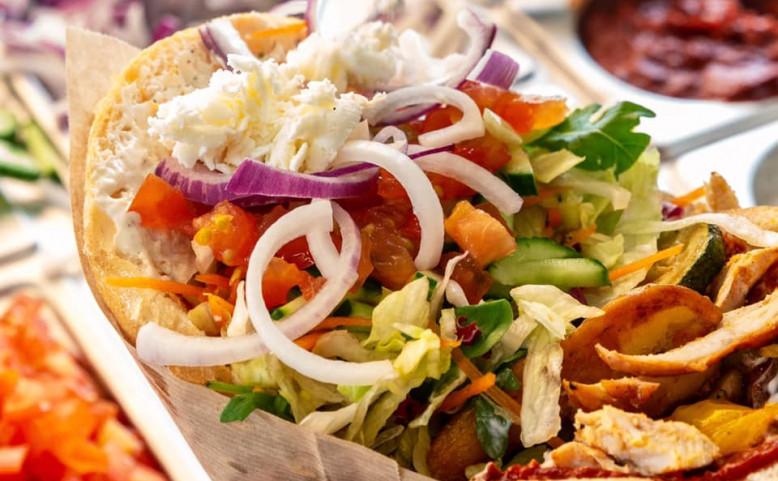 Gemüse Corner Kebab