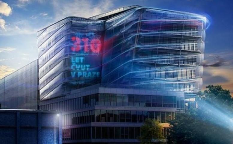 Videomapping na budovu ČVUT – CIIRC