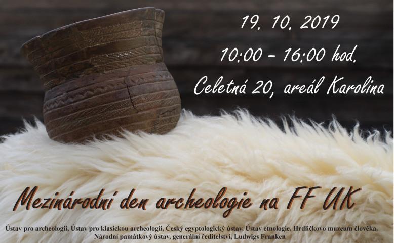 Mezinárodní den archeologie 2019 na FF UK