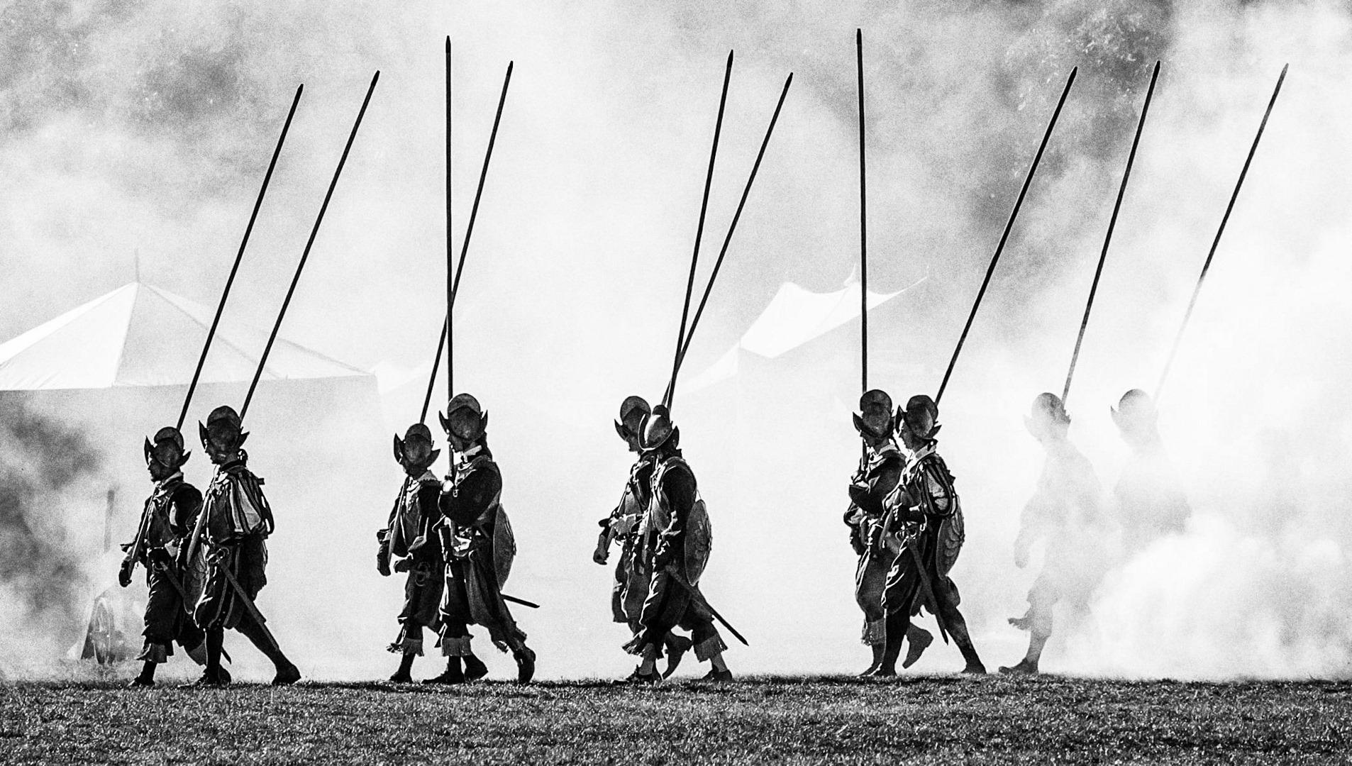 Slavnostní průvod vojsk Prahou v předvečer bitvy na Bílé hoře