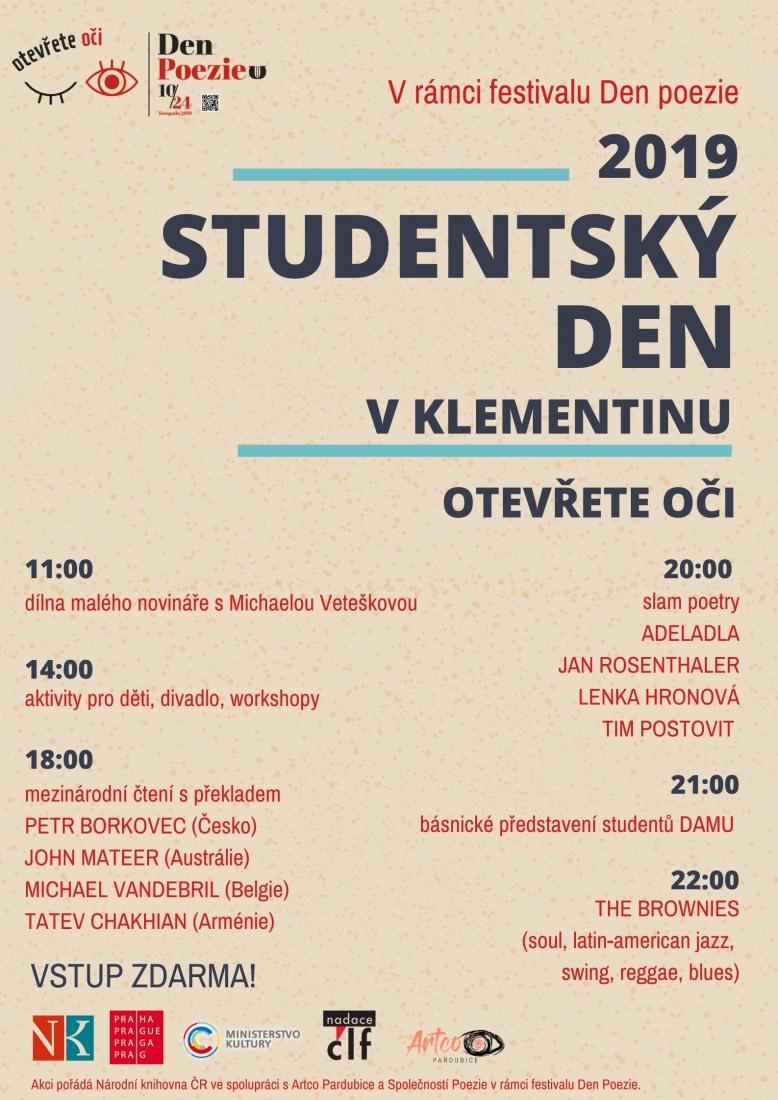 Studentský den v Klementinu