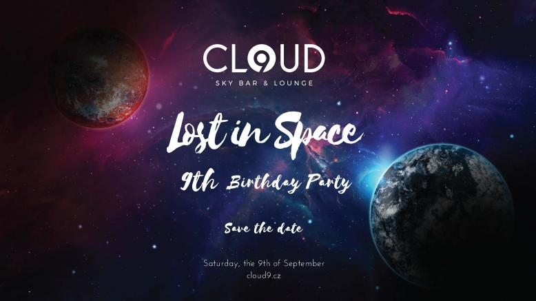 """Cloud 9 Birthday """"Lost in space"""" party"""
