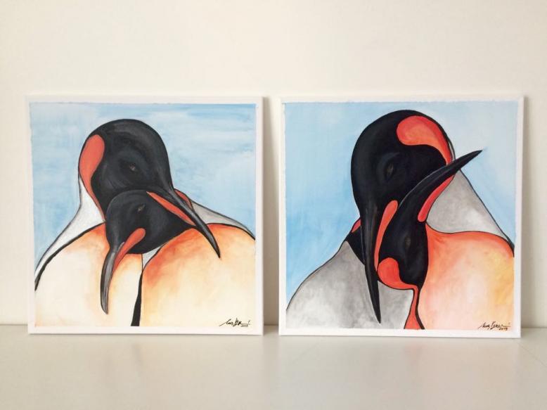 Výstava obrázků na téma tučńáci