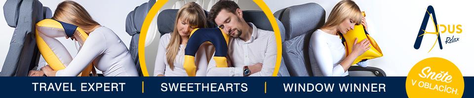 Polštář na spaní v letadle APUS Relax