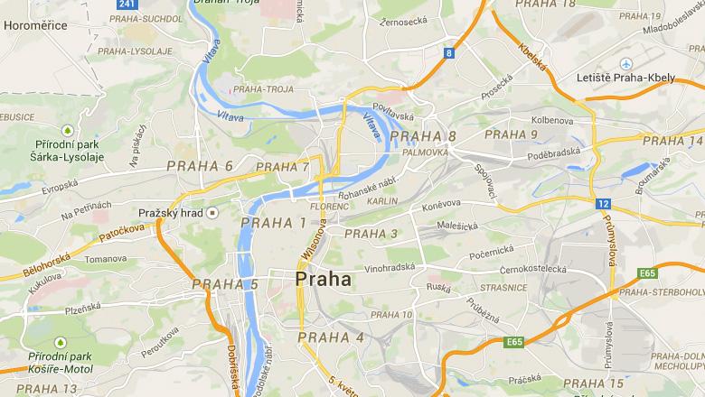 Mapa po Praze